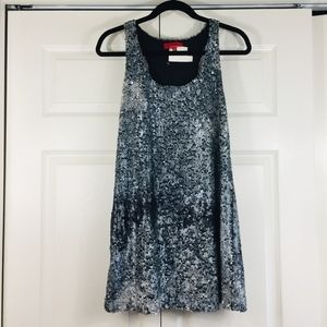 Saks Fifth Avenue Red Label silver sparkle dress